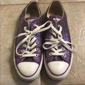 Sparkly purple converse